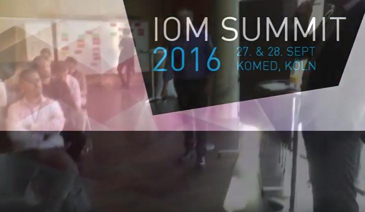 IOM Summit 2016 – Digitalisierung von Alltagsgegenständen
