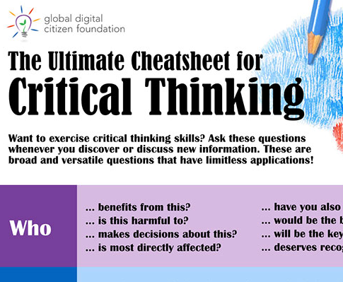Critical thinking skills cheatsheet