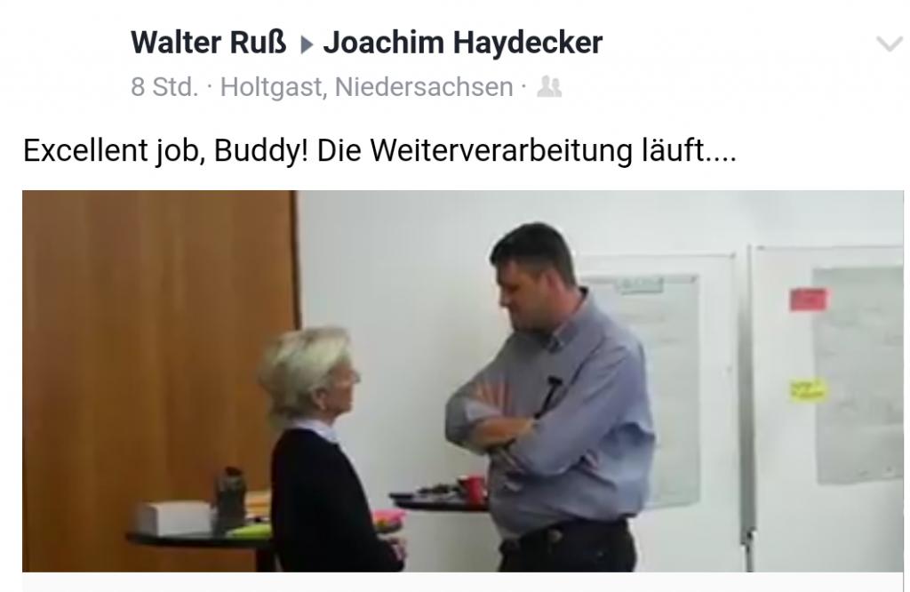 IHK Geschäftsführerin Sybille von Obernitz im Gespräch mit Joachim Haydecker