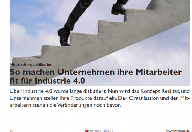 Machen Sie ihre Mitarbeiter fit für Industrie 4.0