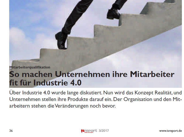 Nicht wegducken – machen sie ihr Unternehmen und ihre Mitarbeiter fit für Industrie 4.0